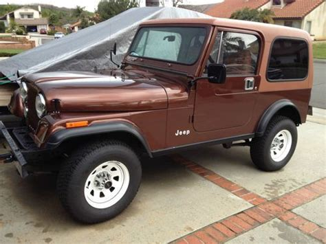 Used Jeeps For Sale In California Purchase Used 1984 Jeep Cj7 In Walnut California United
