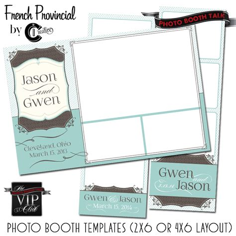 French Provincial By Ci Creative Photo Booth Talk 4x6 Photo Booth Templates