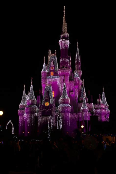 christmas lights that look like here is a pic of the cinderella castle decorated with