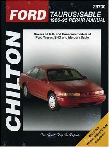 car repair manuals download 1986 ford taurus auto manual ford taurus and sable 1986 95 chilton total car care