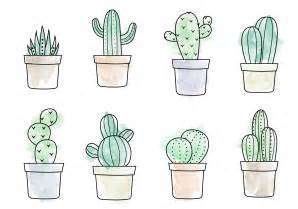 Cute Succulent Planters by Free Watercolor Cactus Vector Download Free Vector Art