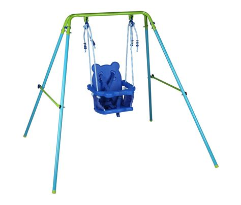 outdoor baby swing frame blue folding swing outdoor indoor swing toddler swing with