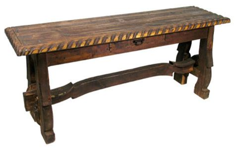 spanish old door sofa table rustic console tables by