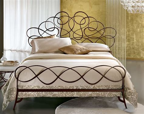 modern ornate hand forged iron beds  ciacci  italy