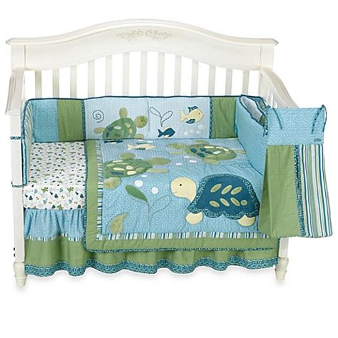 Cocalo Baby Turtle Reef 6 Piece Crib Bedding Set Buybuy Turtle Bedding Set