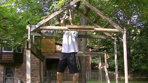 Diy Backyard Pull Up Bar Homemade Ninja Warrior Obstacle Course Youtube