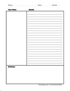 Cornell Note Taking System Template Template For Penultimate Note Template Legal Documents Low Inference Notes Template