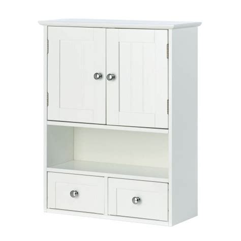 new white wood nantucket wall cabinet storage doors