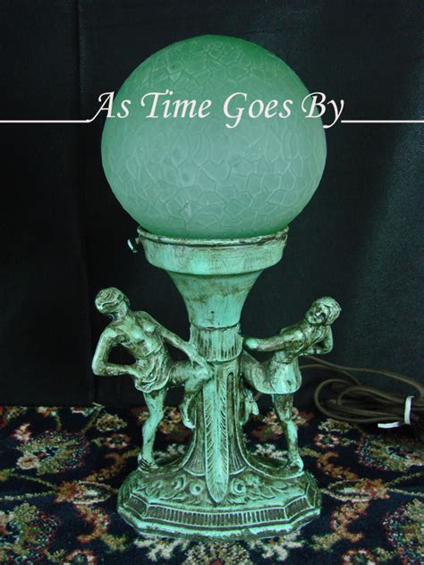 Vintage Glass L Globes by Figural Antique L With Green Glass Globe From Astimegoesby On Ruby