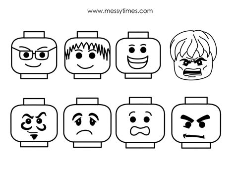 lego face collection messy times