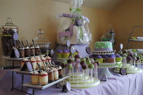 Baby Shower Decorations Purple And Green by Green Purple And Brown Baby Shower Ideas Photo 8