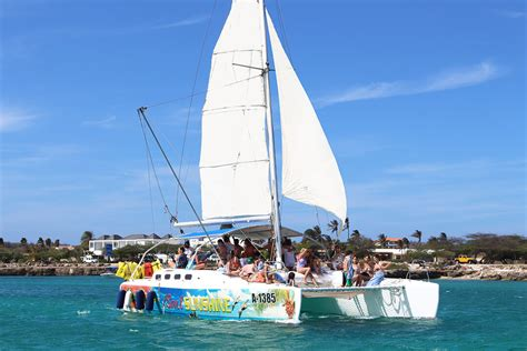 best catamaran in aruba wakeboarding