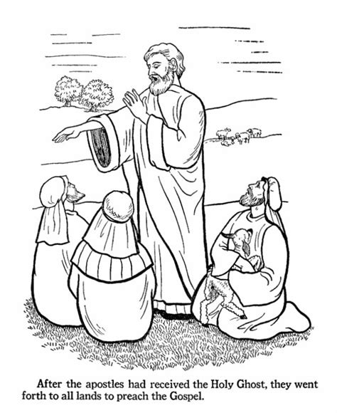 lds coloring pages easter easter bible coloring pages apostles preach the gospel