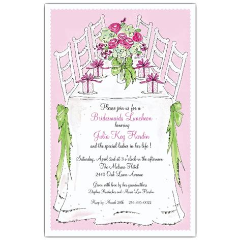 luncheon invitation template bridesmaids luncheon invitations paperstyle