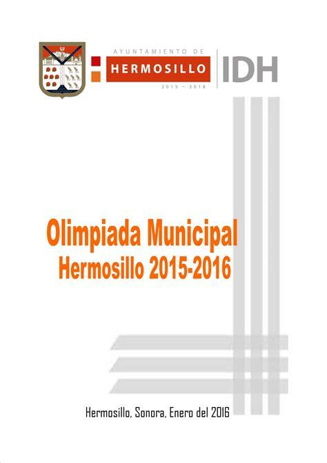 convocatoria 2015 2016 olimpiada mexicana de convocatoria olimpiada municipal idh