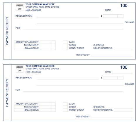template receipt of payment 8 payment receipt templates word excel pdf formats