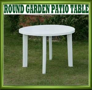 White Resin Patio Table New Progarden White Plastic Garden Patio Table Parasol Holder Slot 326703 Ebay