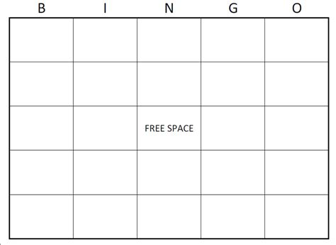 free classroom picture card templates printable large blank pdf printable bingo card stuff