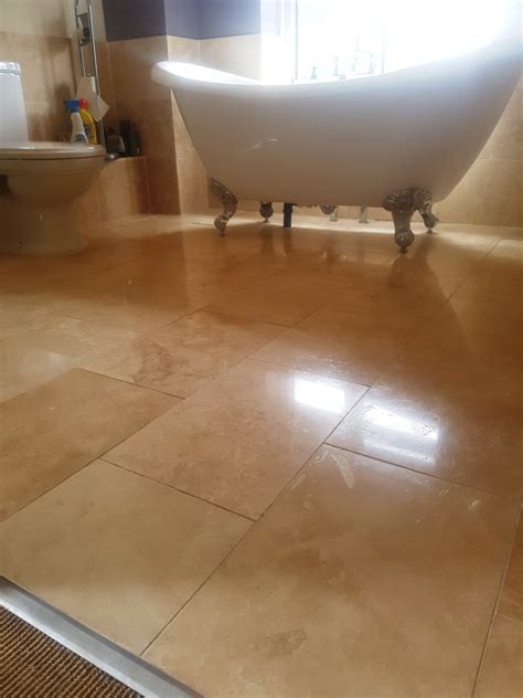 What To Use To Clean Bathroom Floor by Restoring The Appearance Of Travertine Floor Tiles In Greater Manchester Cleaning Tile