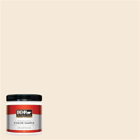 behr premium plus 8 oz 1870 linen white interior exterior paint sle 1870pp the home depot
