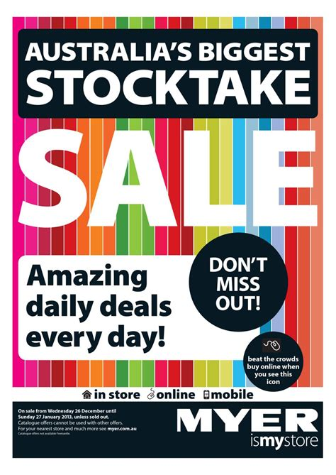 myer catalogue australia s biggest stocktake sale