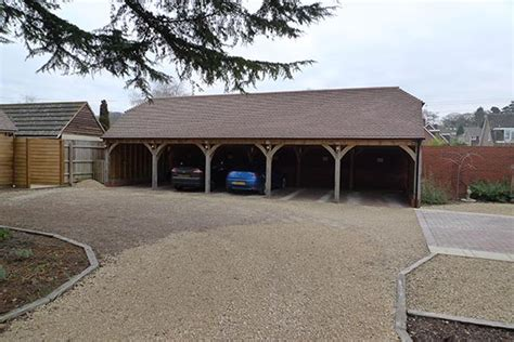 Oak Car Port by 5 Bay Oak Car Port