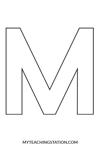letter m template printable letter m template www imgkid the image