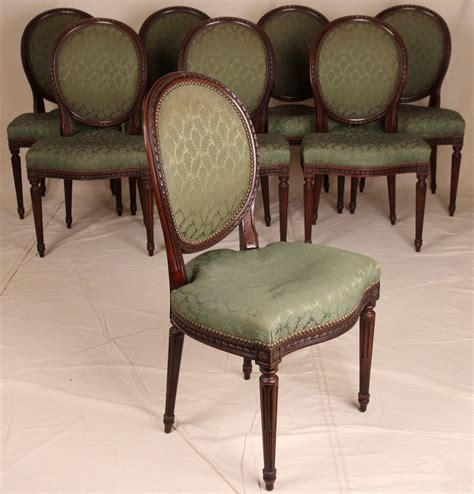 Antique Dining Chairs For Sale Set Of Eight Louis Xvi Style Rope Carved Dining Chairs For Sale Antiques Classifieds