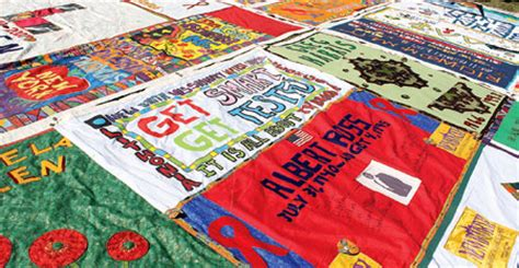 Aids Memorial Quilt by Entire Aids Memorial Quilt Heads To Washington D C