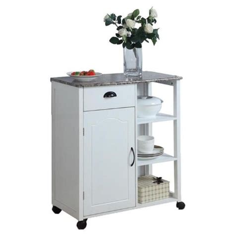 kitchen island cart wheels rolling mobile portable storage inroom designs 25147 white kitchen island storage cart on