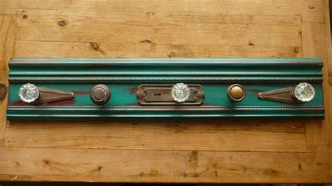 Diy Door Knob Coat Rack by Teal Upcycled Antique Glass Door Knob Coat Rack 100 00