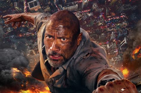 what time does the monster truck show end dwayne johnson clings on for dear life in new skyscraper