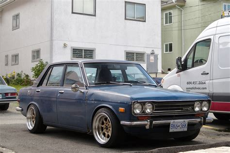 old nissan coupe old parked cars vancouver 1969 datsun 510 sedan