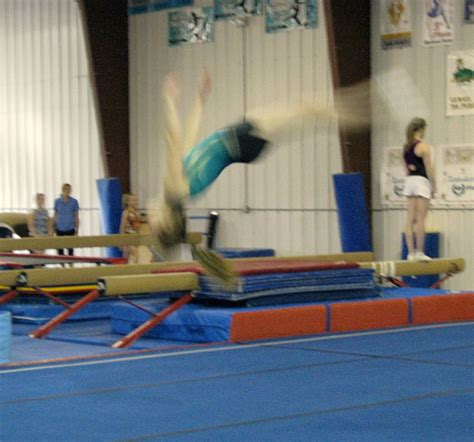back layout in gymnastics tumbling and troline classes at summit gym