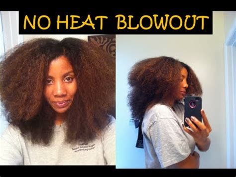 no heat hairstyles short black hair 49 no heat blowout on natural hair youtube
