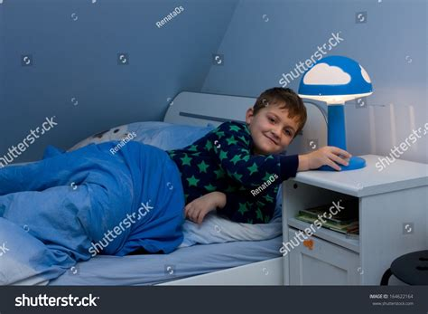 Bedtime Inc Bunk Beds Boy Just About Going Stock Photo 164622164
