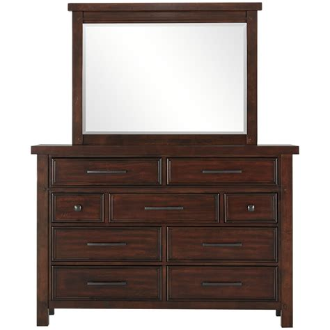 mirrors for bedroom dressers city furniture napa dark tone dresser mirror