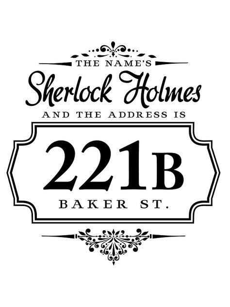 'The name's Sherlock Holmes' Sticker by starrygazer