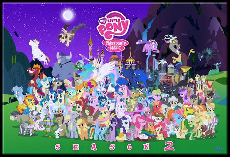 Character cluster by blue paint sea my little pony friendship is