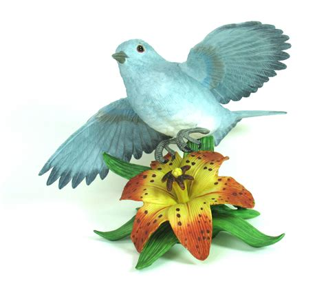 bird figures bird figurine bluebird figurine lenox figurine mountain blue