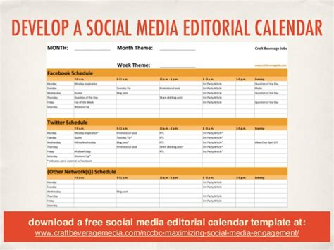 social media editorial calendar template social media 201 maximizing your engagement