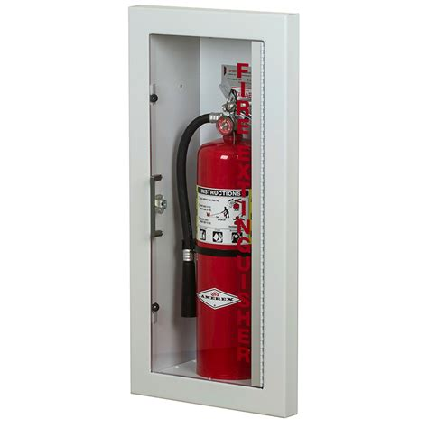 semi recessed extinguisher cabinet larsen gemini series semi recessed extinguisher