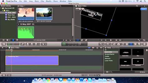 final cut pro text final cut pro x position animate titles text youtube