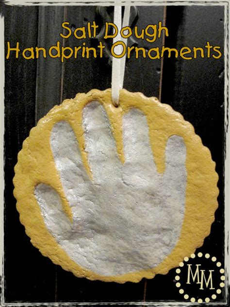 salt dough handprint ornaments the scrap shoppe
