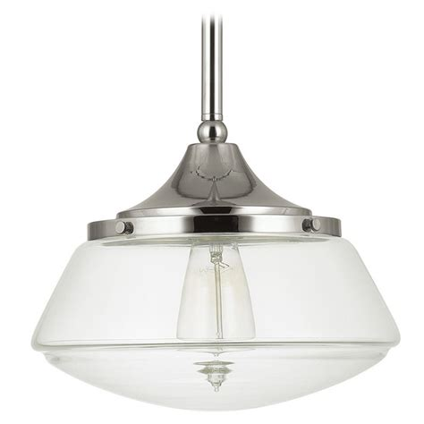 Capital Lighting Polished Nickel Pendant Light With Drum Polished Nickel Pendant Lights