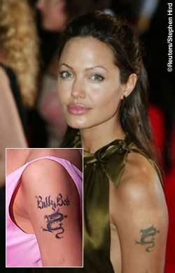 angelina jolie panther tattoo celebrity tattoo images designs