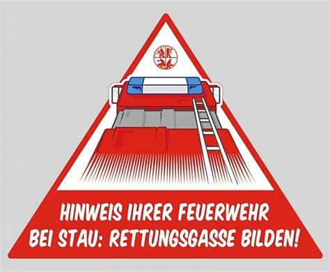 Feuerwehr Aufkleber Rettungsgasse by Aufkleber Rettungsgasse