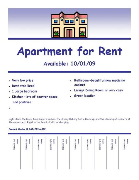 house for rent flyer template free apartment rental flyers bestapartment 2018