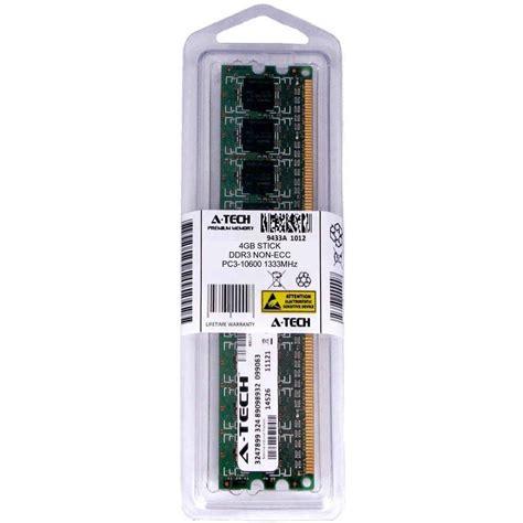 ecc ram ddr3 atech 4gb dimm ddr3 desktop pc3 10600 10600 1333mhz 1333