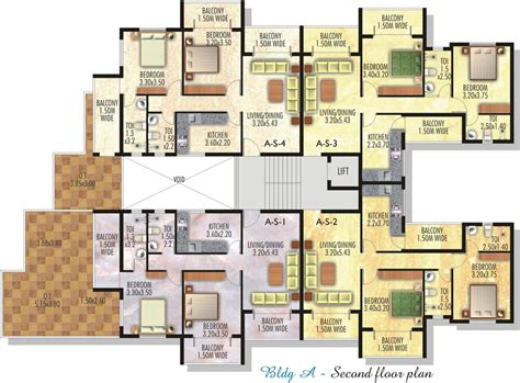 residential plan high rise residential floor plan google search